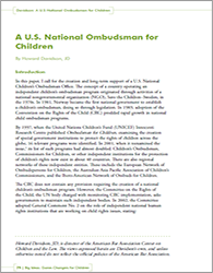 Big Ideas - A US National Ombudsman for Children