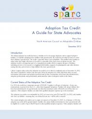 SPARC - Adoption Tax Credit - A Guide for State Advocates
