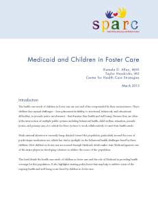 Medicaid and Children in Foster Care
