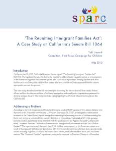 The Reuniting Immigrant Families Act: A Case Study of California's Senate Bill 1064