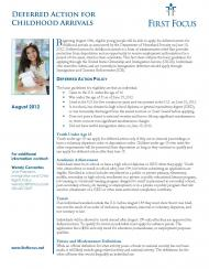 Deferred Action for Childhood Arrivals Fact Sheet