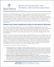 Latino Access to Pre-K