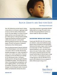 Block Grants are Bad for Kids