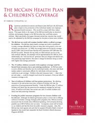 Childrens Health McCain Plan 2008
