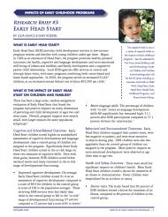Early Childhood - Early Head Start