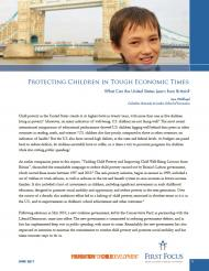 Protecting Children in Tough Economic Times What Can the United States Learn from Britain