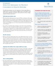 Childrens Health Lexicon Talking Points