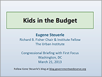 Investing in the Future - Eugene Stuerle
