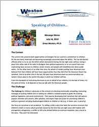 Westen - Speaking of Children