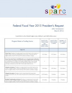 Federal Fiscal Year 2015 President's Request