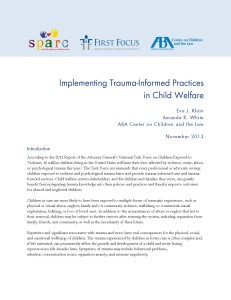 Implementing Trauma-Informed Practices in Child Welfare