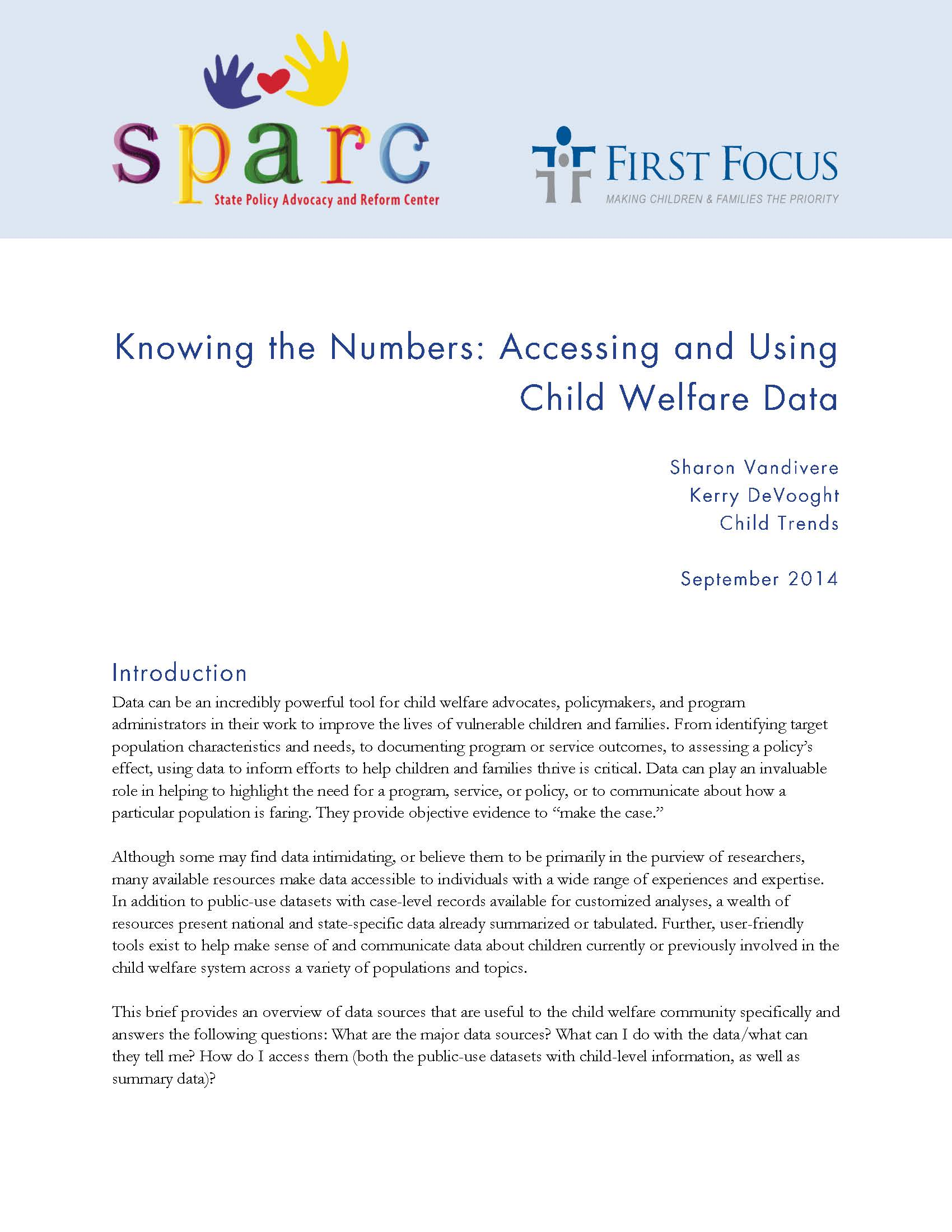 Knowing the Numbers: Accessing and Using Child Welfare Data