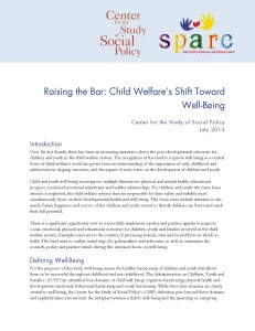Raising the Bar: Child Welfare's Shift Towards Well-Being
