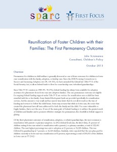 Reunification of Foster Children with their Families