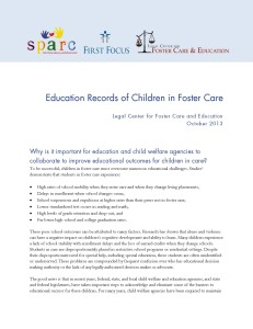 Education Records of Children in Foster Care