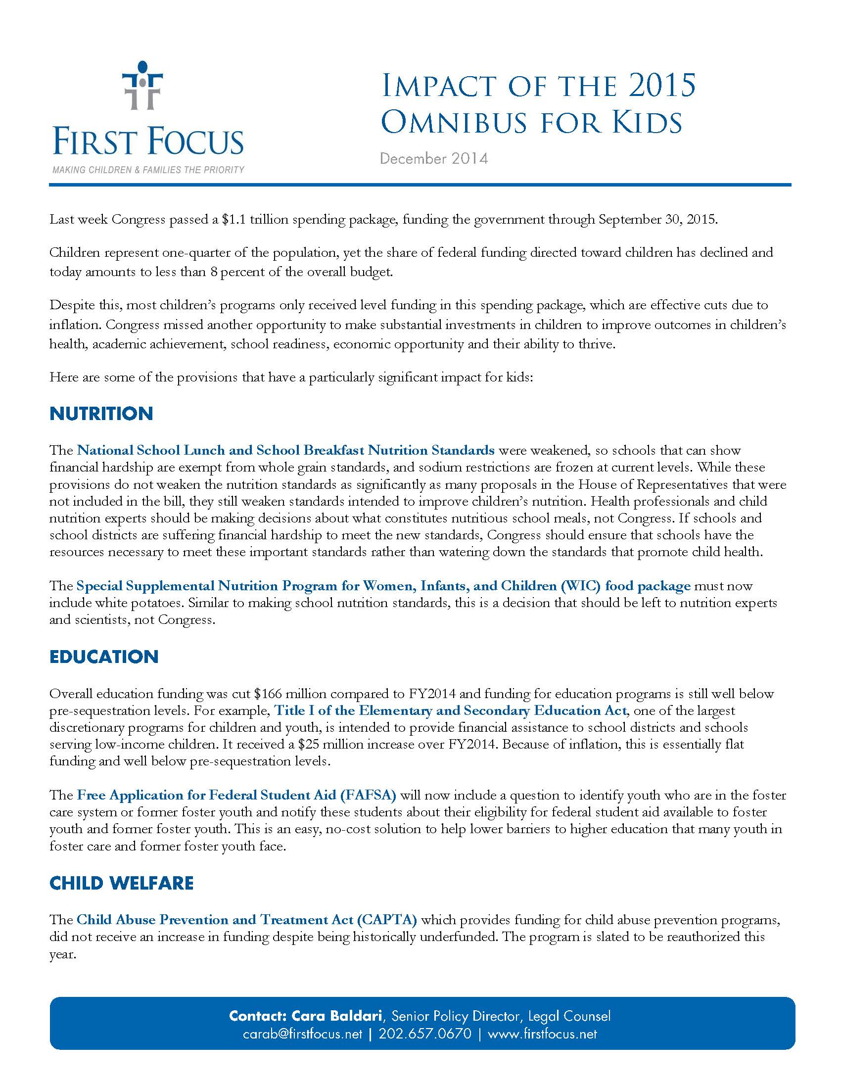 Impact of the 2015 Omnibus for Kids_Page_1