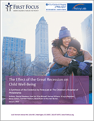 Effect of the Great Recession on Child Well-Being