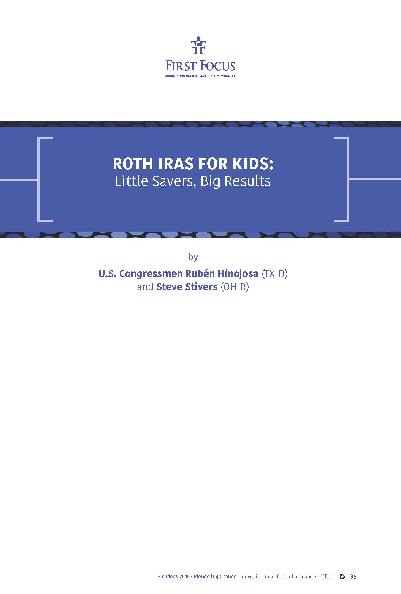 Roth IRAs for Kids: Little Savers, Big Results