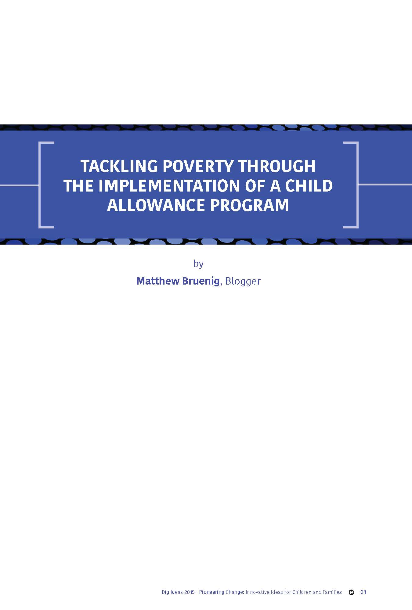 Tackling Poverty Through the Implementation of a Child Allowance Program_Page_1