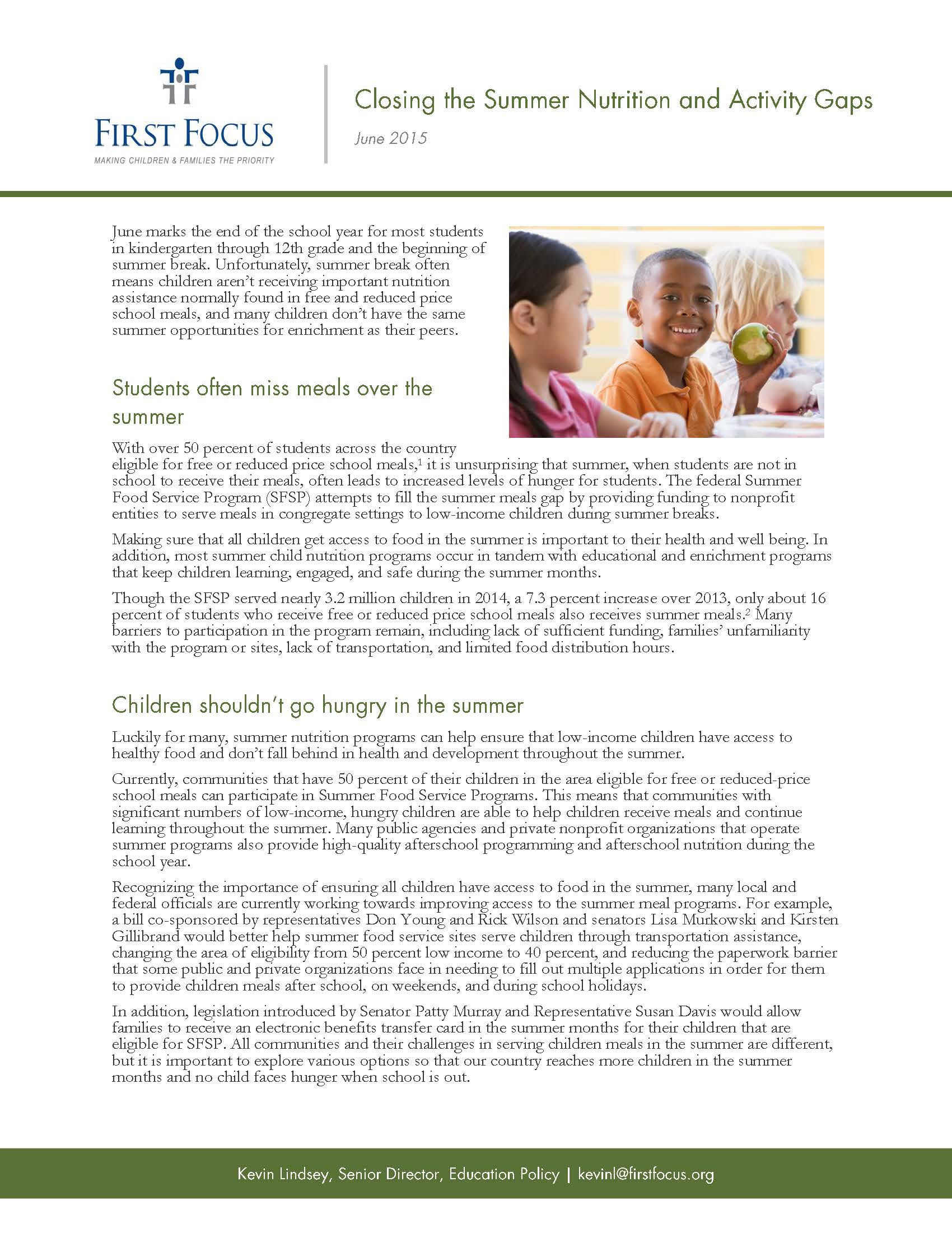 Closing the Summer Nutrition and Activity Gaps_Page_1