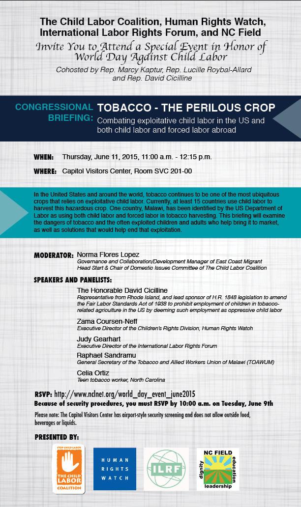 Tobacco briefing