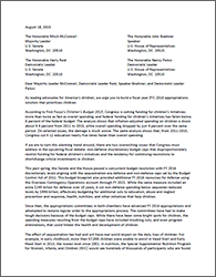 Budget Coalition Letter to Leadership