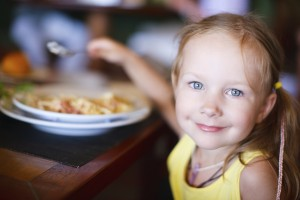 Little girl eating