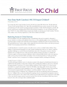 How Does North Carolina's HB 318 Impact Children_Page_1