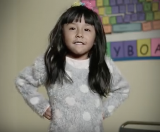 Zury, age 5, is featured in This Is My American Story, a multi-media campaign.