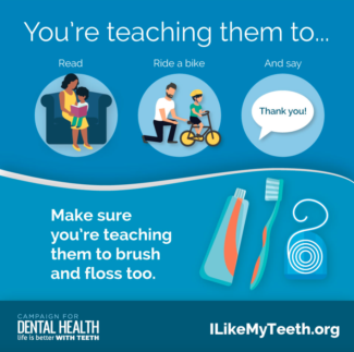 Oral Health Fluoridation Graphic